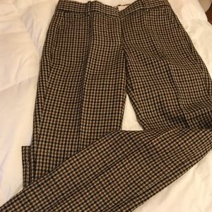 Tweed wool trousers blk/brown J. Crew sz00